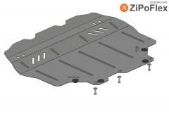 Кольчуга Защита двигателя и КПП, радиатора для Volkswagen Beetle '12-, 1,4; МКПП/АКПП росс.версия (Кольчуга) Zipoflex