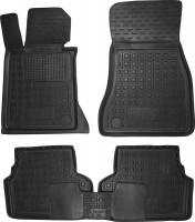 Коврики в салон для BMW 5 G30 '17- резиновые, черные (AVTO-Gumm)