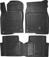Коврики в салон для Honda Civic 4D '17- резиновые, черные (AVTO-Gumm)