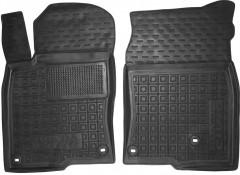 Коврики в салон передние для Honda Civic 4D '17- резиновые, черные (AVTO-Gumm)