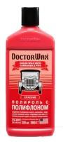 DoctorWax Цветной полироль с полифлоном, красный 300 мл