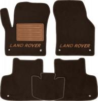 Коврики в салон для Land Rover Discovery Sport '14- текстильные, коричневые (Премиум) 8 клипс