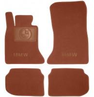 Коврики в салон для BMW 5 F10/11 '10-16 текстильные, терракотовые (Премиум)