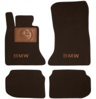 Коврики в салон для BMW 5 F10/11 '10-16 текстильные, коричневые (Премиум)