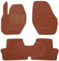 Коврики в салон для Volvo XC 60 '09-13 текстильные, терракотовые (Премиум) 8 клипс