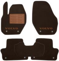 Коврики в салон для Volvo XC 60 '09-13  текстильные, коричневые (Премиум) 8 клипс