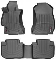 Коврики в салон для Subaru Forester '13-18 черные, резиновые 3D (WeatherTech)