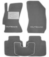 Коврики в салон для Subaru Outback '15- текстильные, серые (Премиум)