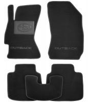 Коврики в салон для Subaru Outback '15- текстильные, черные (Люкс)