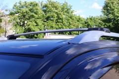 Багажник универсальный аэродинамический на рейлинги Erkul (от 110 до 118 см.) серебристый