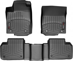 Коврики в салон для Mercedes ML/GLE W166 '11- черные, резиновые 3D (WeatherTech)