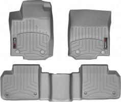 Коврики в салон для Mercedes GL/GLS X166 '12- серые, резиновые 3D (WeatherTech)