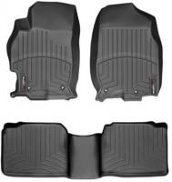 Коврики в салон для Mazda 6 '08-12, черные, резиновые 3D (WeatherTech)