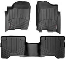 Коврики в салон для Nissan Armada '04-, черные, резиновые 3D (WeatherTech)