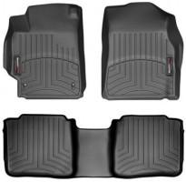 Коврики в салон для Toyota Camry V40 2006 - 2011, черные, резиновые 3D (WeatherTech)