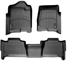 Коврики в салон для Cadillac Escalade III '07-13, черные, резиновые 3D (WeatherTech)