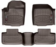 Коврики в салон для Land Rover Range Rover Evoque '11-, коричневые, резиновые 3D (WeatherTech)