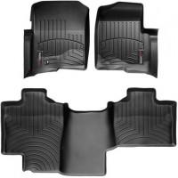 Коврики в салон для Ford F-150 '08-14, черные, резиновые 3D, без воздуховода (WeatherTech)