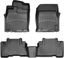 Коврики в салон для Toyota FJ Cruiser '06-, черные, резиновые 3D (WeatherTech)
