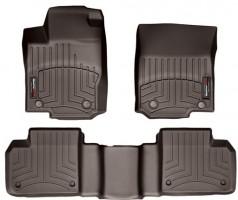 Коврики в салон для Mercedes GL-Class/GLS X166 '12-, коричневые, резиновые 3D (WeatherTech)