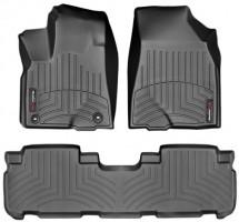 Коврики в салон для Toyota Highlander '14-, черные, резиновые 3D (WeatherTech)