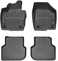 Коврики в салон для Volkswagen Jetta VI '10-, черные, резиновые 3D (WeatherTech)