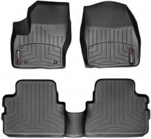 Коврики в салон для Ford Kuga '08-13, черные, резиновые 3D (WeatherTech)
