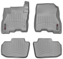 Коврики в салон для Nissan Leaf '10-, серые, резиновые 3D (WeatherTech)