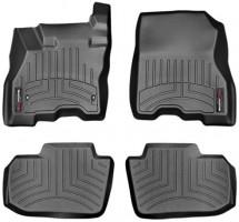 Коврики в салон для Nissan Leaf '10-, черные, резиновые 3D (WeatherTech)