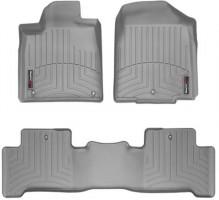 Коврики в салон для Acura MDX '06-13, серые, резиновые 3D (WeatherTech)