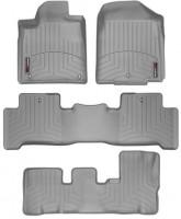 Коврики в салон для Acura MDX '06-13, серые, резиновые 3D (WeatherTech) 1+2+3 ряд