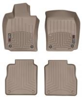 Коврики в салон для Porsche Panamera '10-16, Executive, бежевые, резиновые 3D (WeatherTech)