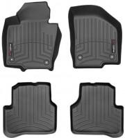 Коврики в салон для Volkswagen Passat USA 2011-2019, черные, резиновые 3D (WeatherTech) круглые клипсы