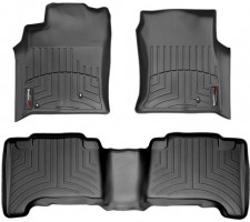 Коврики в салон для Toyota LC Prado 120 '03-09, черные, резиновые 3D (WeatherTech)