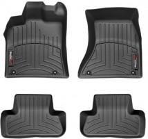 Коврики в салон для Audi Q5 '08-17, черные, резиновые 3D (WeatherTech)