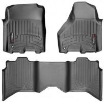 Коврики в салон для Dodge Ram 1500 '14-, Crew Cab, черные, резиновые 3D (WeatherTech)