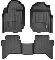 Коврики в салон для Ford Ranger T6 '11-, черные, резиновые 3D (WeatherTech)