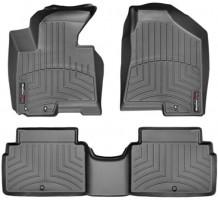 Коврики в салон для Kia Sportage 2010 - 2015, черные, резиновые 3D (WeatherTech)