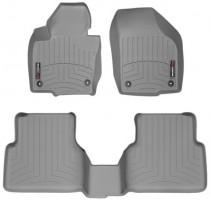 Коврики в салон для Volkswagen Tiguan '07-16, серые, резиновые 3D (WeatherTech)