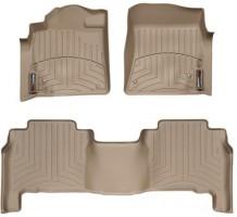 Коврики в салон для Lexus LX 570 '08-12, бежевые, резиновые 3D (WeatherTech)