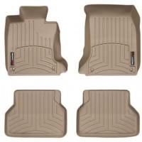 Коврики в салон для BMW 5 E60 '03-10, бежевые, резиновые 3D (WeatherTech)