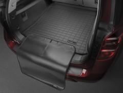 Коврик в багажник для Porsche Cayenne '10-17 (без сабвуфера), черный, с накидкой, резиновый (WeatherTech)