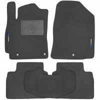Коврики в салон для Hyundai Elantra AD '16- текстильные, серые (Стандарт)