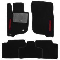 Коврики в салон для Mitsubishi Pajero Sport '16- текстильные, черные (Стандарт)