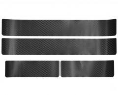 NataNiko Наклейки на пороги для Toyota RAV4 '13-18, карбон, черные (NataNiko)