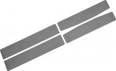 Наклейки на пороги для Chevrolet Aveo '11- седан / хэтчбек, карбон, серые (NataNiko)