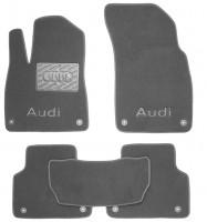 Коврики в салон для Audi Q7 '15- текстильные, серые (Премиум) 8 клипс