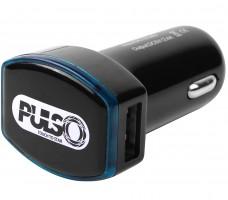 Универсальное автомобильное зарядное устройство Pulso C-2026BK 2USB (12/24V - 5V 2,4A)