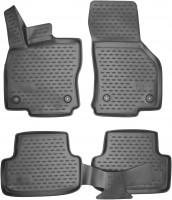 Коврики в салон для Audi A3 '12- хэтчбек полиуретановые, черные (Novline / Element) 3D