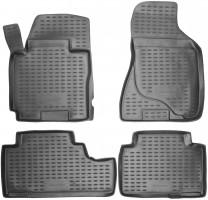 Коврики в салон для Kia Sportage '04-10 полиуретановые, черные (Novline / Element)